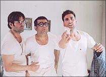 Suniel Shetty, Paresh Rawal and Akshay Kumar