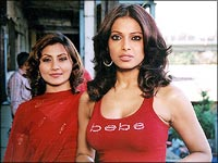 Rimii Sen and Bipasha Basu
