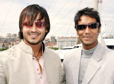 Vivek Oberoi and Ajay Devgan