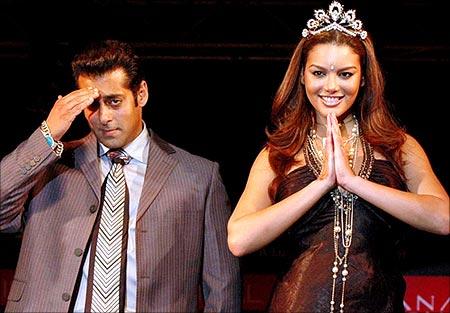 Salman Khan and Miss Universe 2006 Zuleyka Rivera