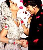 Amrita Rao and Shahid Kapoor in Vivah