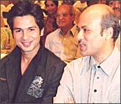 Shahid Kapoor with Sooraj Barjatya