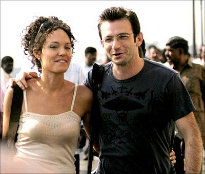 Angelina Jolie and Dan Futterman