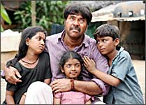 A still from Karutha Pakshikal