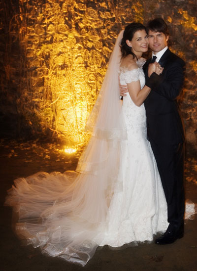 Tom Cruise and Katie Holmes In a lavish and much publicised wedding,