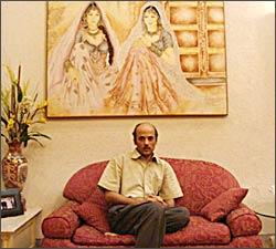 Sooraj Barjatya, at home