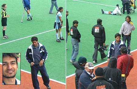SRK, on the sets of Chak De India