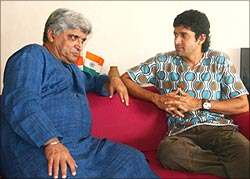 Javed and Farhan Akhtar