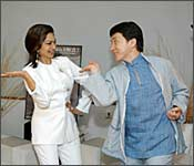 Simi Garewal and Jackie Chan