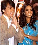 Jackie Chan with Mallika Sherawat