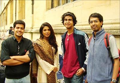 Aman, Priyanka, Mani and Niranjan at Oxford