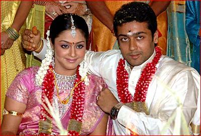 first look surya jyothika wed