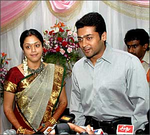 Jyotika and Surya
