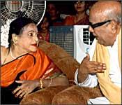 Padmini with Tamil CM M Karunanidhi