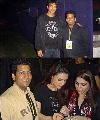 Reader Rajvansh Rai with Arjun Rampal, Preity Zinta