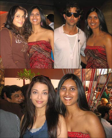 Reader Shraddha Reddy with Isha, Hrithik and Ash