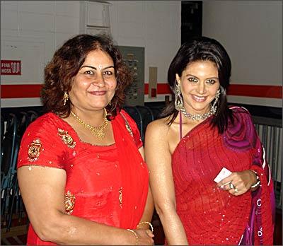 Reader Jyoti Gupta with Mandira Bedi in New York