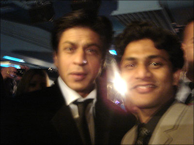 SRK with Aftab Hussain