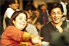 Farah Khan with Shah Rukh Khan