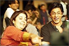 Farah Khan with Shah Rukh Khan