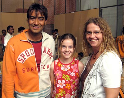 Ajay Devgn with fans