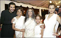 John Abraham, Seema Biswas, Deepa Mehta and Lisa Ray