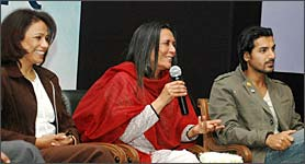 Seema Biswas, Deepa Mehta and John Abraham