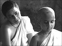 Seema Biswas (Shakuntala) with Sarala (Chuyia)