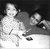 Deepa Mehta with Devyani as a child