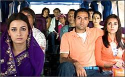 A still from Honeymoon Travels Pvt Ltd