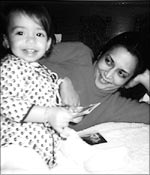 Devyani, as a child,  and Deepa Mehta