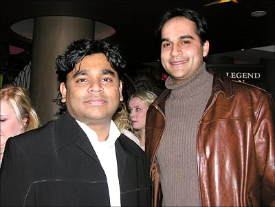 Rahman with reader Brian Leno