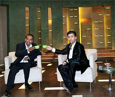 Sameer Nair with Karan Johar