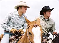A still from Brokeback Mountain