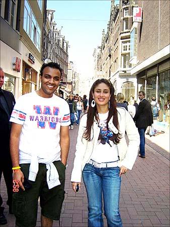 Reader Vijit Bhargava with Kareena Kapoor