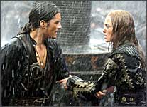 Orlando Bloom and Keira Knightley in Pirates Of The Caribbean: At World's End