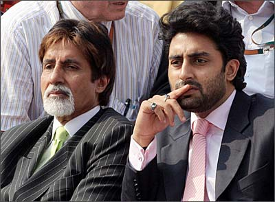 Amitabh and Abhishek Bachchan at the French Open