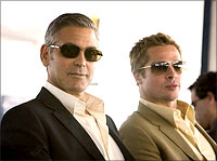 George Clooney and Brad Pitt in Ocean's Thirteen