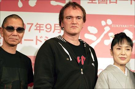 Takashi Miike, Quentin Tarantino and Japanese actress Kaori Momoi
