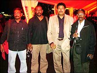 Dr Biju (left) with Shankar (third from left), Pasupathi and Vasantha Balan