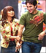 Rani Mukerji and Saif Ali Khan in Ta Ra Rum Pum