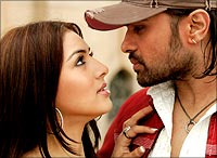 Riaa and Himesh Reshammiya in AKS