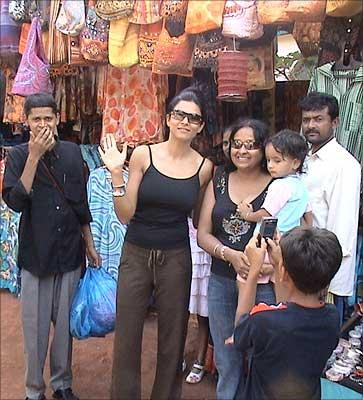 Sushmita Sen in Goa