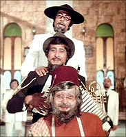 A still from Amar Akbar Anthony