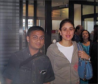Bhavik Mehta with Kareena Kapoor
