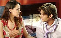 Neha Dhupia and Jimmy Shergill in Delhii Heights