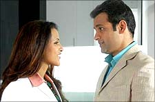 Neha Dhupia and Rohit Roy in Delhii Heights