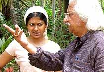 Nandita Das with Adoor Gopalakrishnan