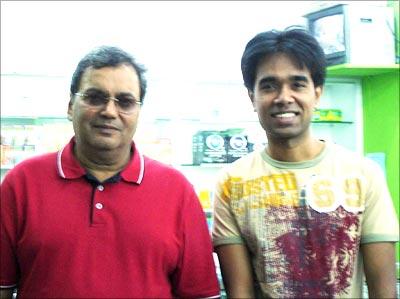 Subhash Ghai with rediff reader Sudeep Pai