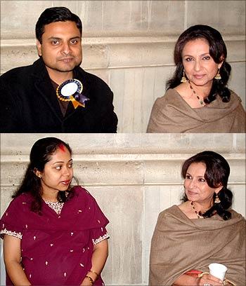 Readers Suman and Sumana Bhattacharya with Sharmila Tagore
